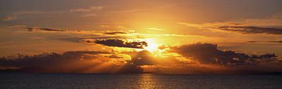 Sunset Over The Atlantic Ocean Poster