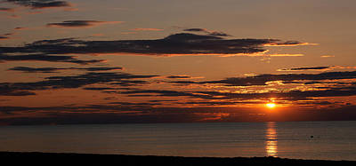 Sunset Over The Ocean, Jetties Beach Poster