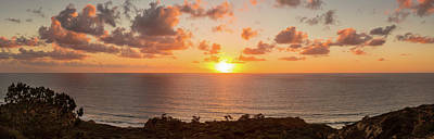 Sunset Over The Pacific Ocean, Torrey Poster by Panoramic Images