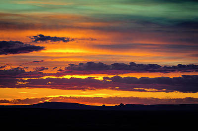 Sunset Over The Painted Desert Poster