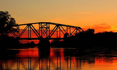 Poster featuring the photograph Sunset Over The Taylor Bridge by Larry Trupp