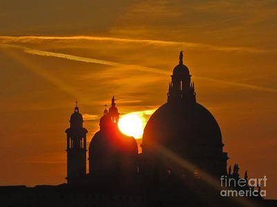 Sunset Over Venice Poster