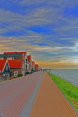 Sunset Over Volendam Poster