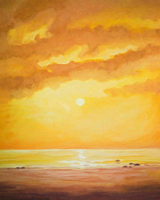 Sunset Painting Poster