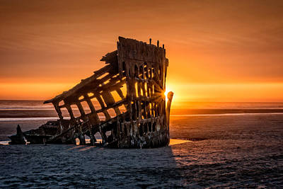 Sunset Peter Iredale Poster by James Hammond