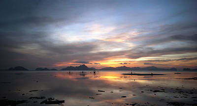 Sunset Philippines Poster by John Swartz