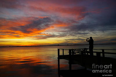 Sunset Photographer Poster by Tannis  Baldwin