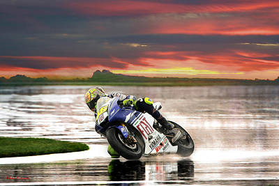 Sunset Rossi Poster