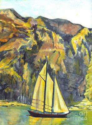 Sunset Sail On Lake Garda Italy Poster