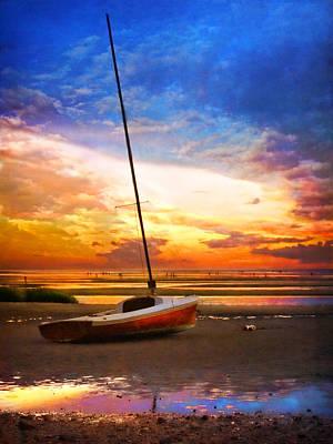 Sunset Sail Poster by Tammy Wetzel