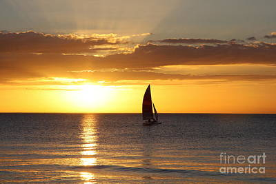 Sunset Sailing Poster by Christiane Schulze Art And Photography