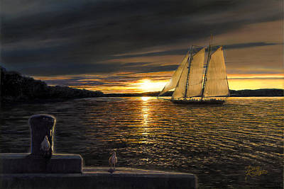 Sunset Sails Poster