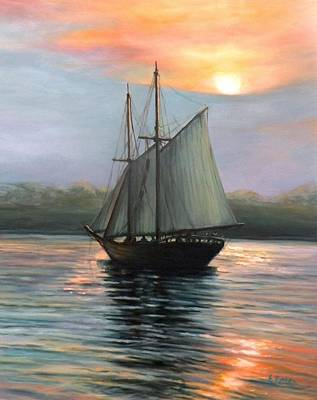 Sunset Sails Poster by Eileen Patten Oliver