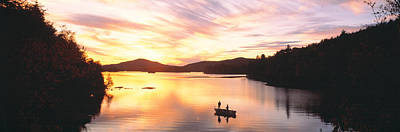 Sunset Saranac Lake Franklin Co Poster by Panoramic Images