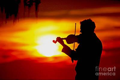 Sunset Violin Serenade Louisiana Poster by Luana K Perez