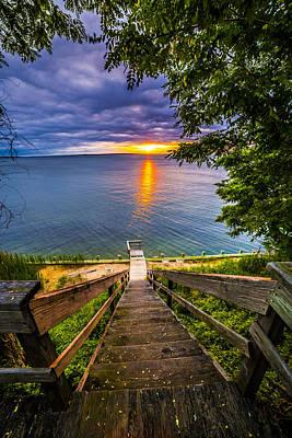 Sunset Shores Sunset Poster