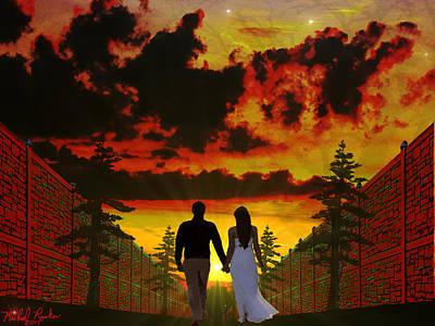 Sunset Stroll Poster by Michael Rucker