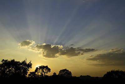 Sunset Sunrays Poster