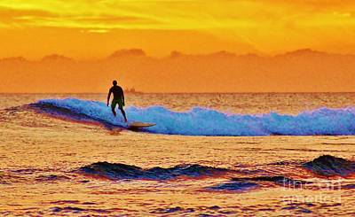 Sunset Surf Poster