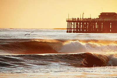Sunset Surf Santa Cruz Poster