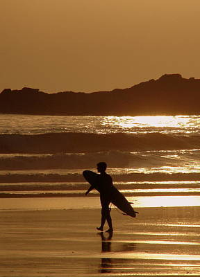Sunset Surfer Poster by Ramona Johnston