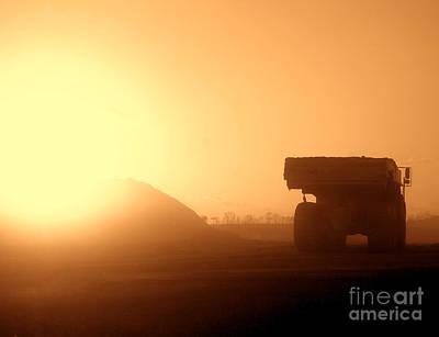 Sunset Truck Poster