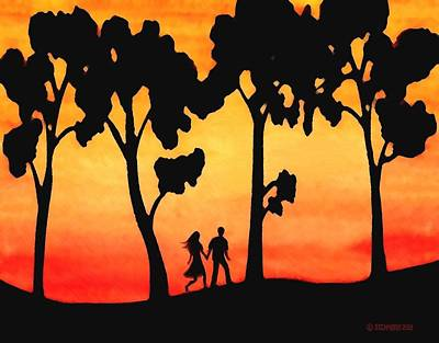 Sunset Walk Poster