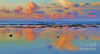 Sunset Water Color Poster by Michele Penner