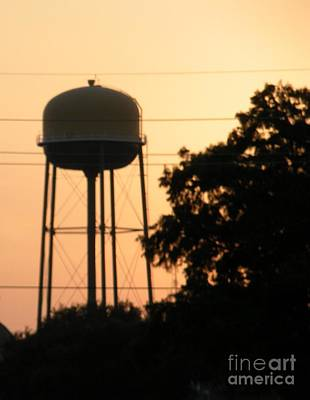Sunset Water Tower Poster by Joseph Baril