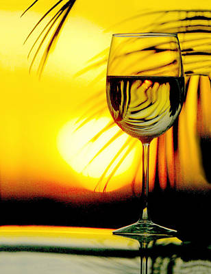 Sunset Wine Poster