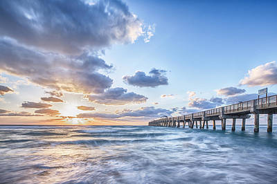 Sunshine At The Pier Poster by Jon Glaser