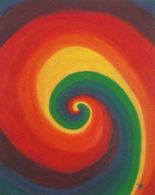 Poster featuring the painting Sunshine Daydream by Thomasina Durkay