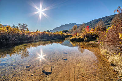 Sunshine Over River Of Golden Dreams Whistler Poster by Pierre Leclerc Photography