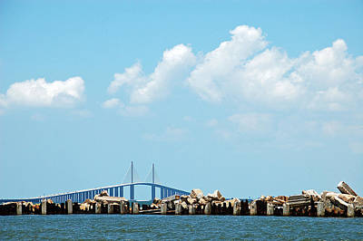 Sunshine Skyway Bridge Poster by Aimee L Maher Photography and Art Visit ALMGallerydotcom