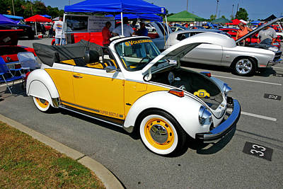 Super Beetle -- A Bug At A Car Show Poster by Joseph C Hinson Photography