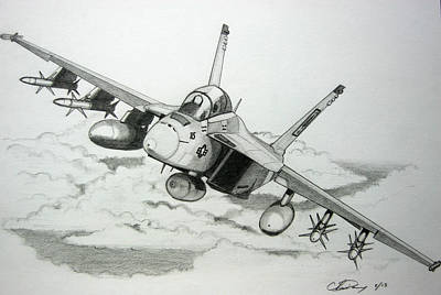 Super Hornet Inbound Poster by Chris Dang
