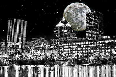 Super Moon Over Rochester Poster by Richard Engelbrecht