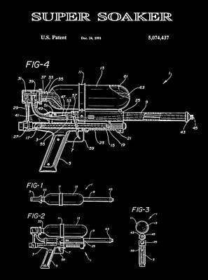 Super Soaker 2 Patent Art 1991 Poster by Daniel Hagerman
