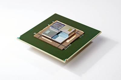 Supercomputer Microchip Stack Poster
