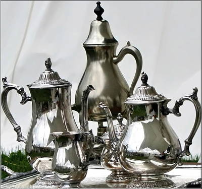 Superior Officers Silverware And Tea Service From  The Stoney Creek War Of  1812 Poster by Danielle  Parent