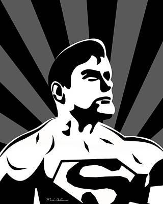 Superman 5 Poster by Mark Ashkenazi