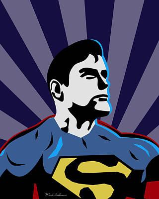 Superman 7 Poster by Mark Ashkenazi