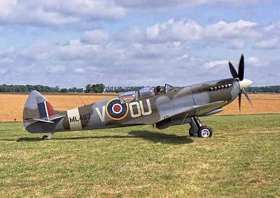 Poster featuring the photograph Supermarine Spitfire T9 by Paul Gulliver