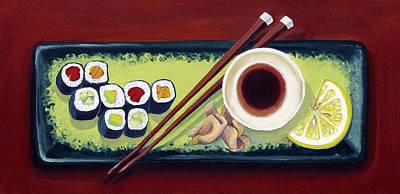 Supermarket Sushi Poster by Laura Dozor