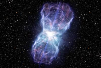 Supermassive Black Hole Poster by Eso/l. Calcada