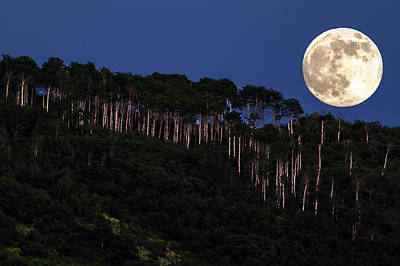 Supermoon Over Moon Hill Poster
