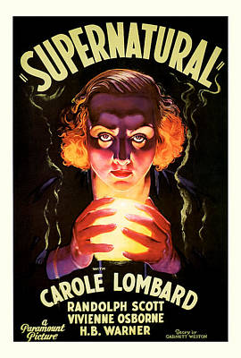 Poster featuring the mixed media Supernatural 1933 by Presented By American Classic Art