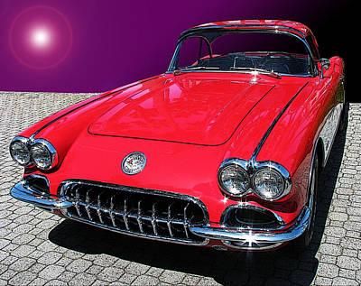 Supernova Corvette Poster
