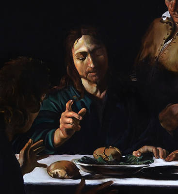 Supper In Emmaus Detail Poster by Massimo Tizzano