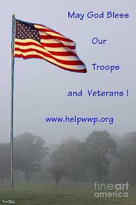 Support Our Troops And Veterans Poster by Bill Woodstock